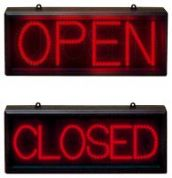 Static Red LED Sign Open/closed (LED22)